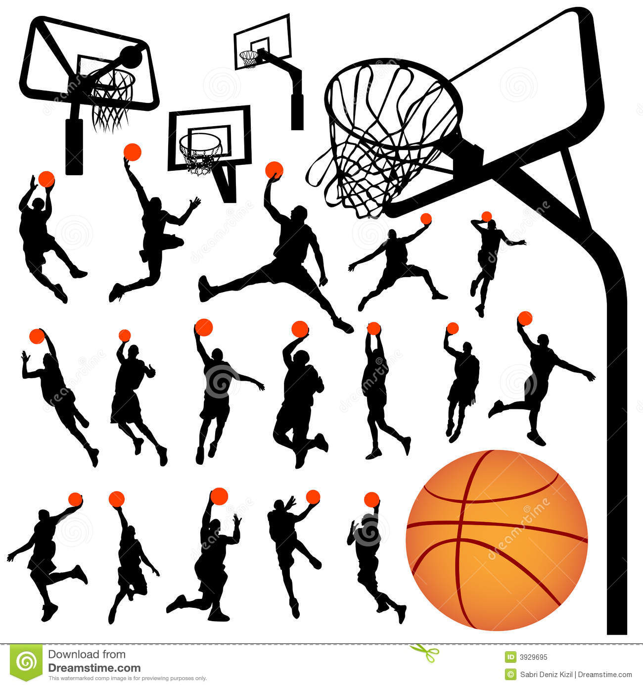 Basketball And Backboard Vector 2 Stock Vector