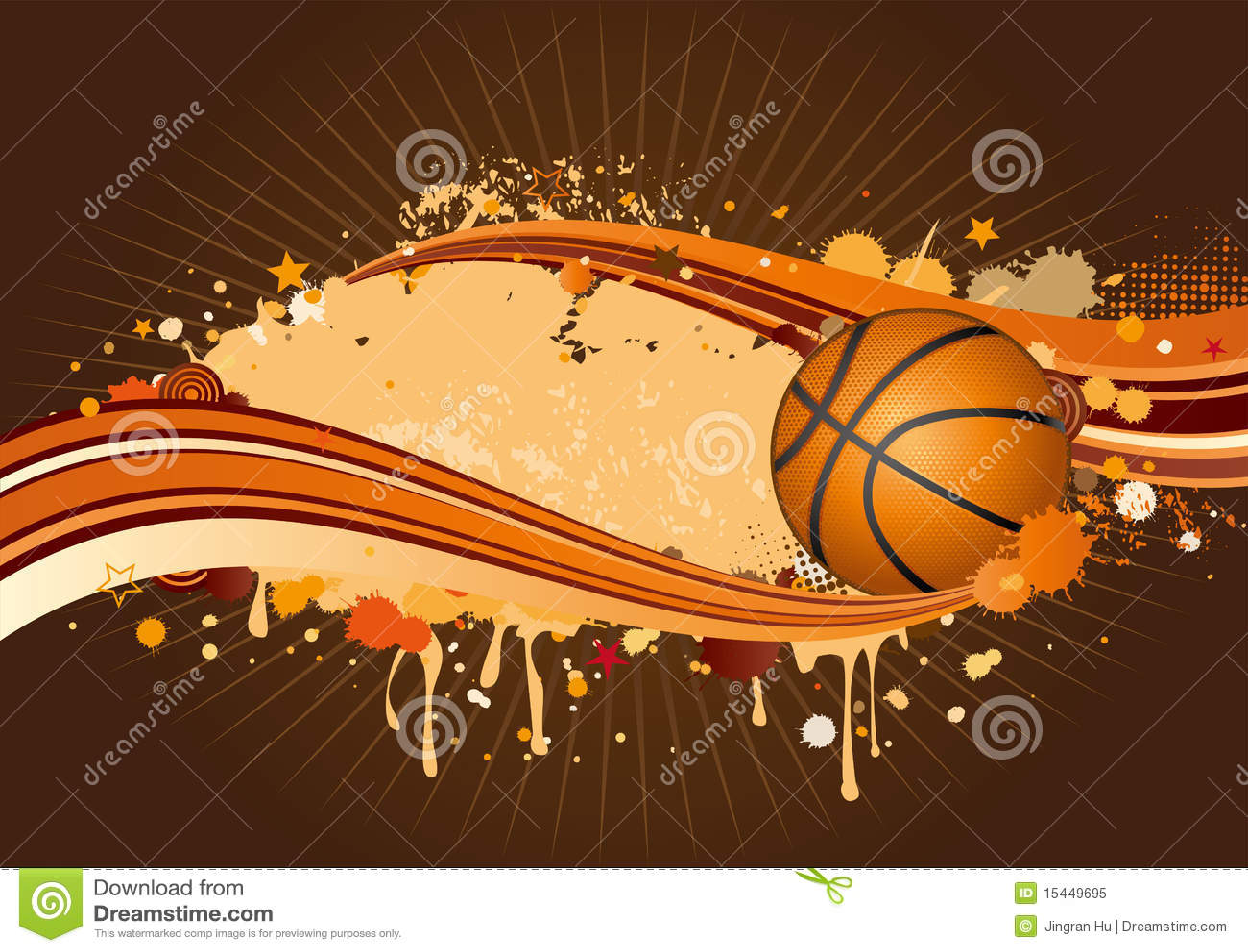 basketball background stock vector illustration of ball 15449695