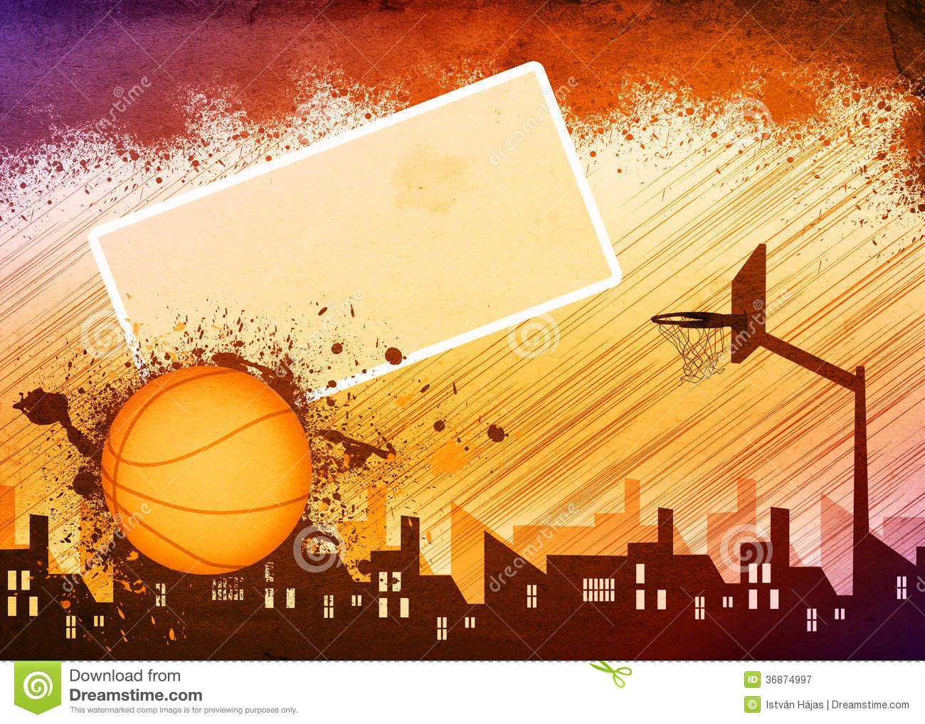 Basketball Background. Energy, Play.