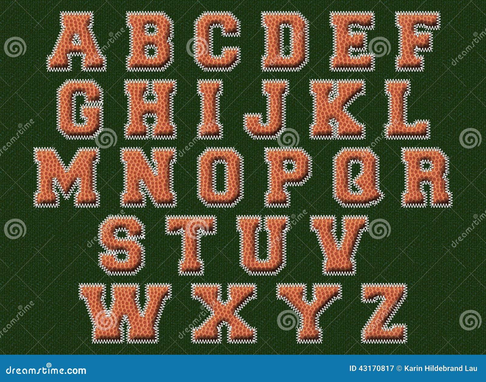 Basketball Font Stock Illustration - Image: 43170817