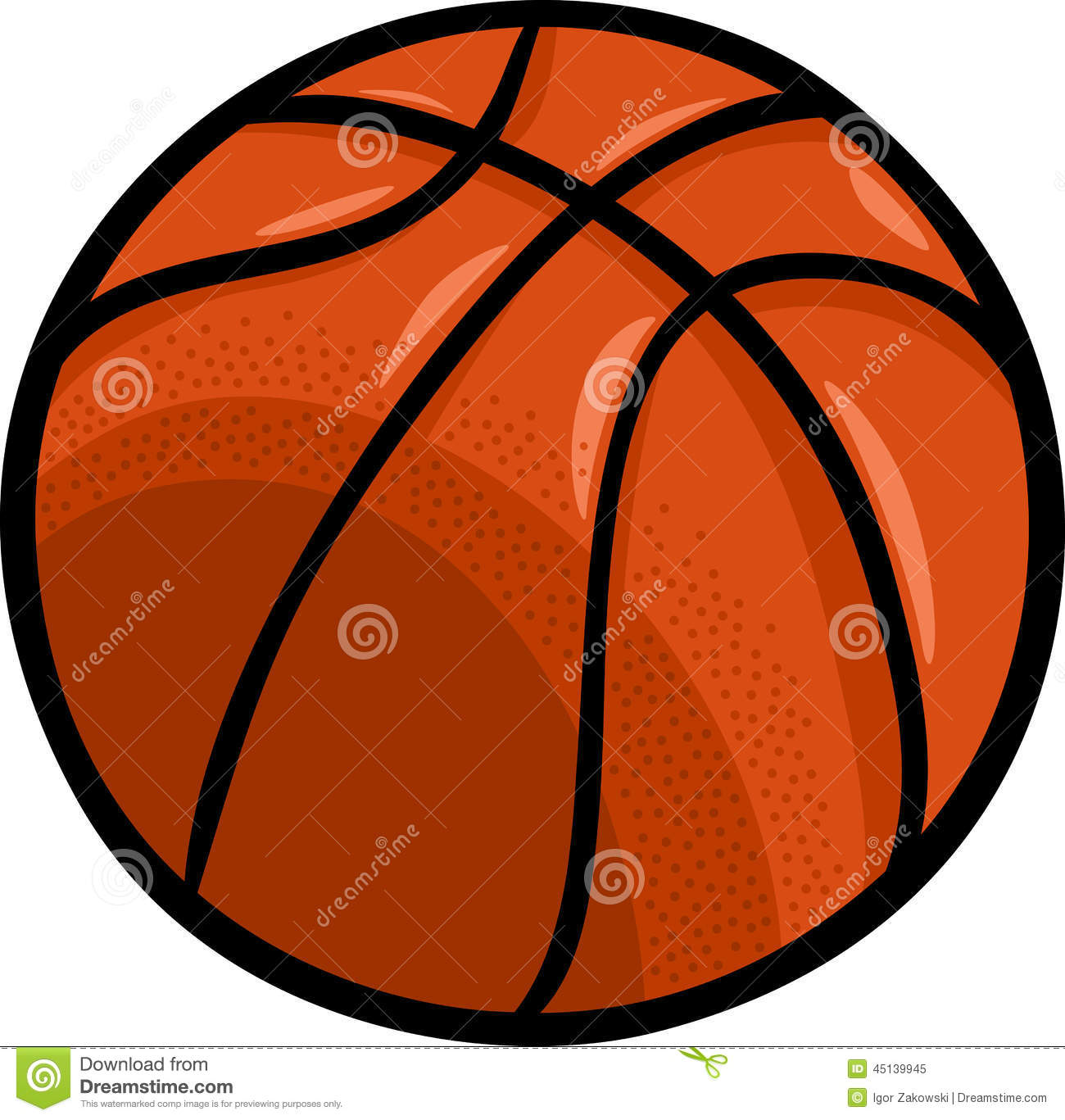 Clip Art Ball Clip Art basketball ball cartoon clip art stock vector image 45139945 art