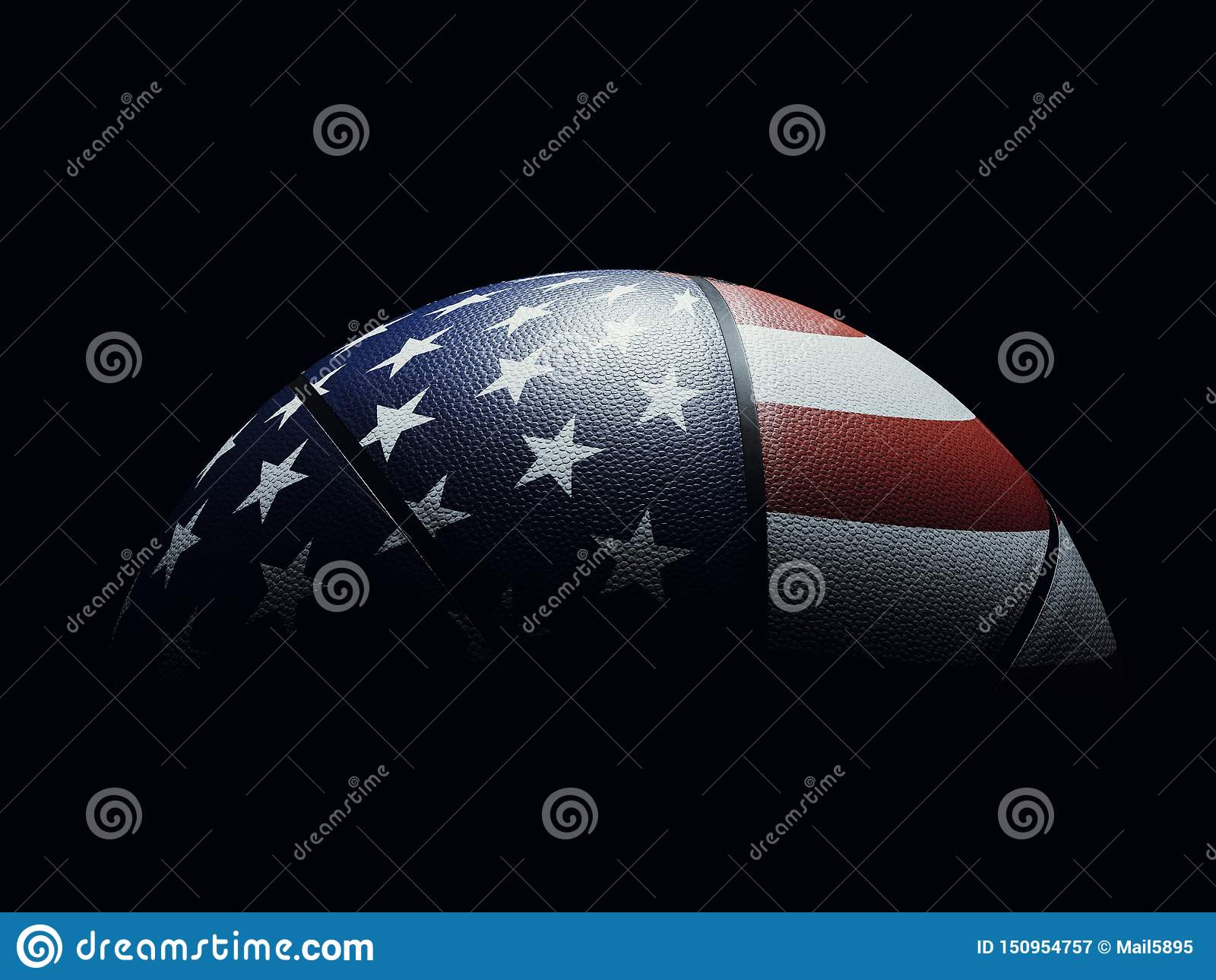 Basketball Ball Colored Like United States Flag Wallpaper Stock