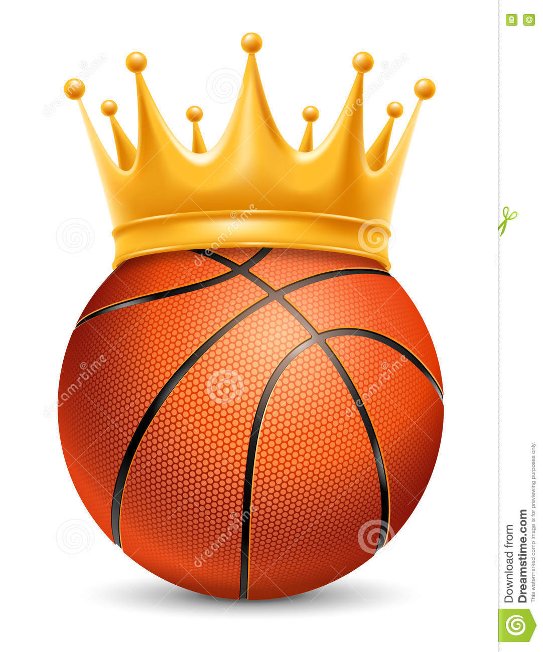 Basketball Ball In Crown Stock Vector. Illustration Of