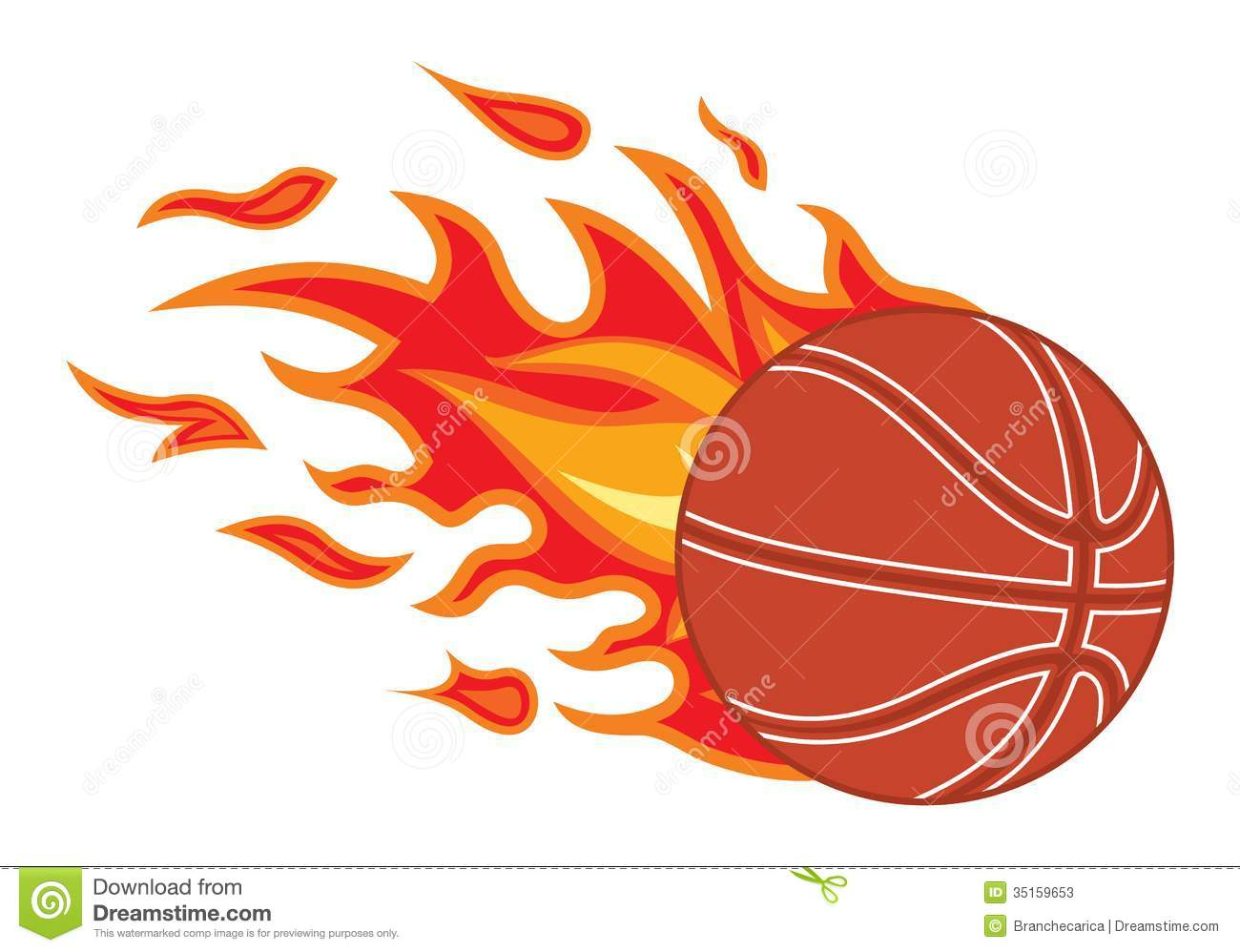 basketball ball in fire stock illustration image of macro Vector Flaming Basketball Logo flaming basketball logo vector