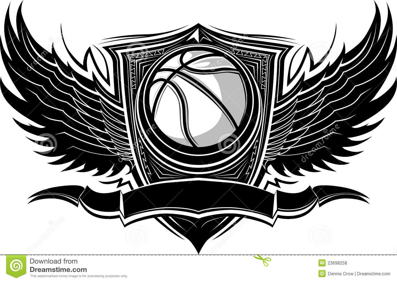 Basketball Ball Ornate Graphic Template Royalty Free Stock