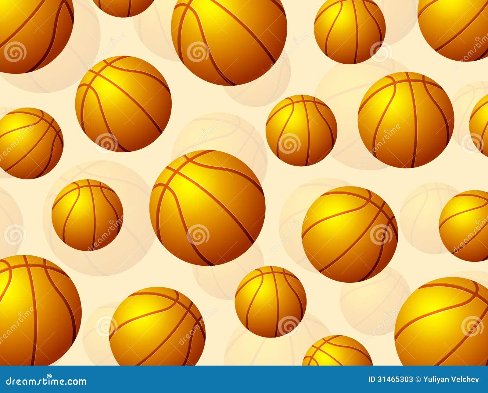 Balones De Fútbol Deportes Fondos De Pantalla Gratis: Basketball Balls Background Stock Vector