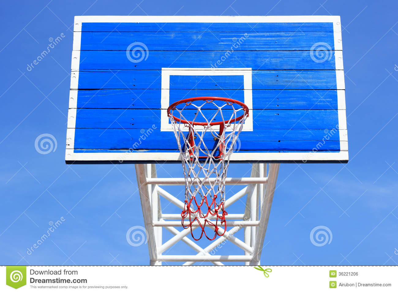 Basketball Board With Hoop Royalty Free Stock Image ...