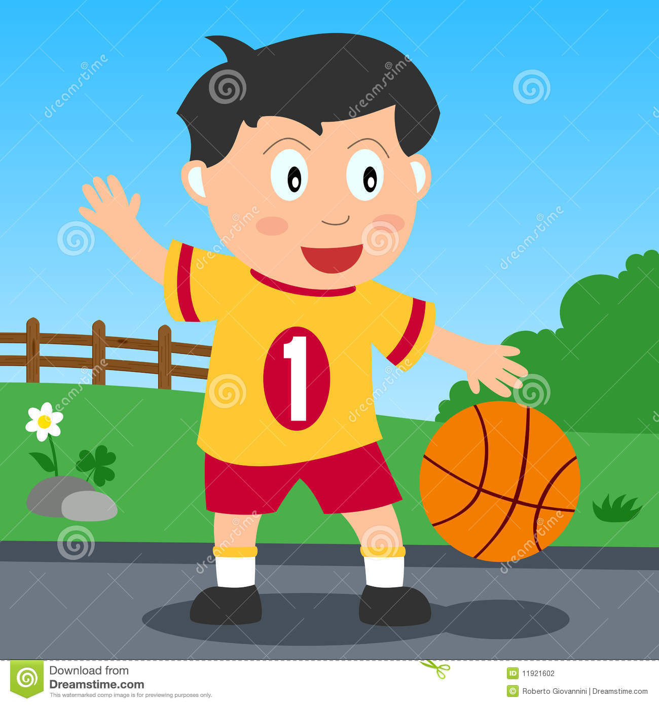 Basketball Boy In The Park Stock Photography Image 11921602