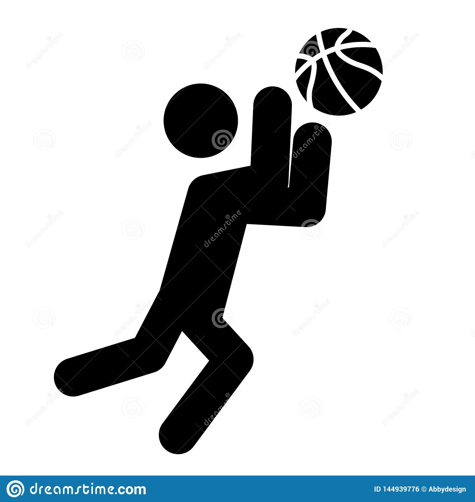 Basketball Catch Icon Vector