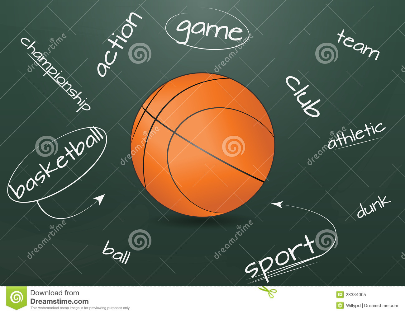 Basketball Chalkboard Royalty Free Stock Photo - Image: 28334005