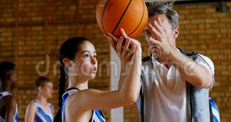 Basketball Coach Training To Kid 4k Stock Footage - Video of holiday ...