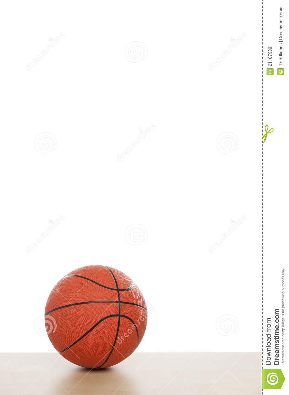 Basketball with Copy Space