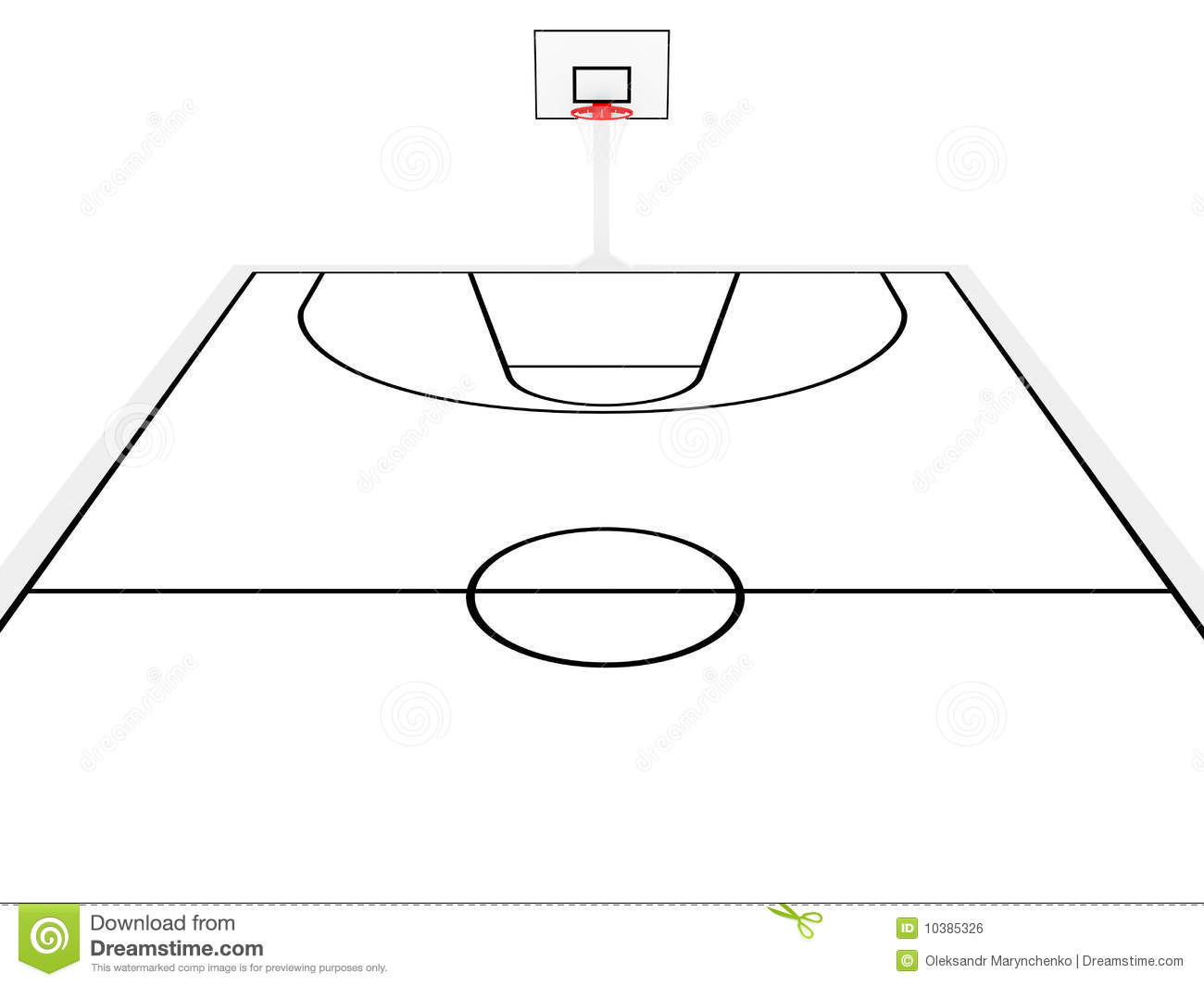 Basketball Court Stock Illustration Image Of Ring View