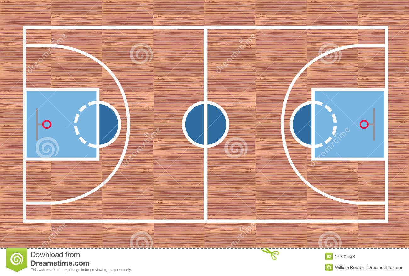 Basketball court royalty free stock photos image 16221538 for Average basketball court size