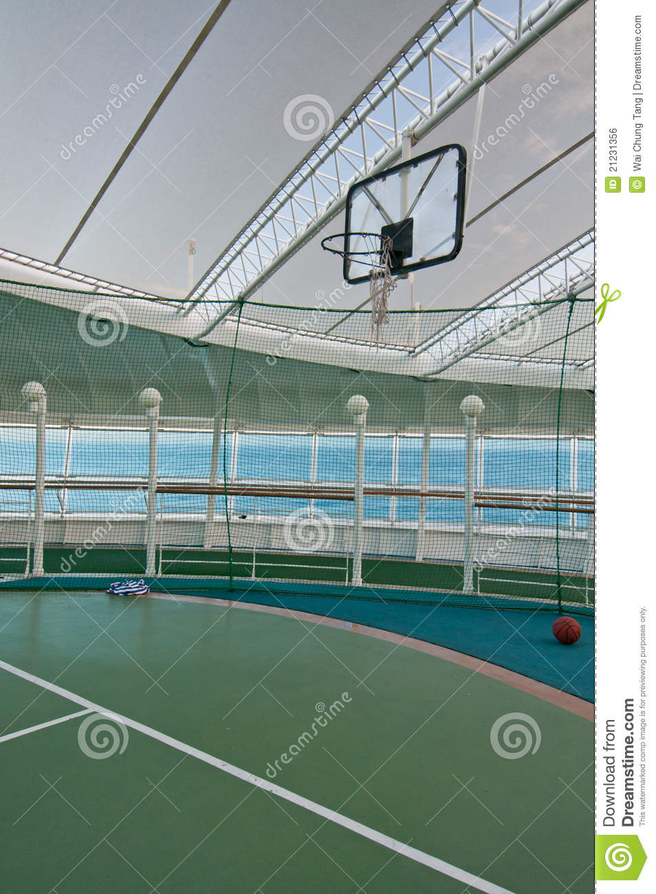 Basketball court royalty free stock image image 21231356 for Free inside basketball courts