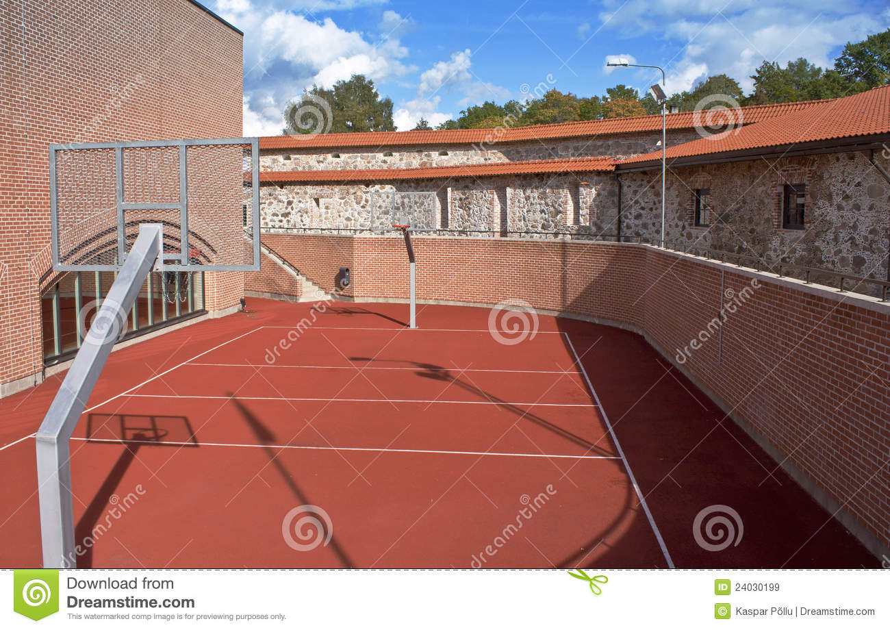 Basketball Court Royalty Free Stock Images Image 24030199