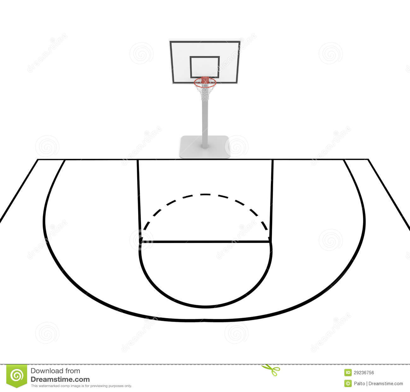 Basketball Court Royalty Free Stock Image - Image: 29236756