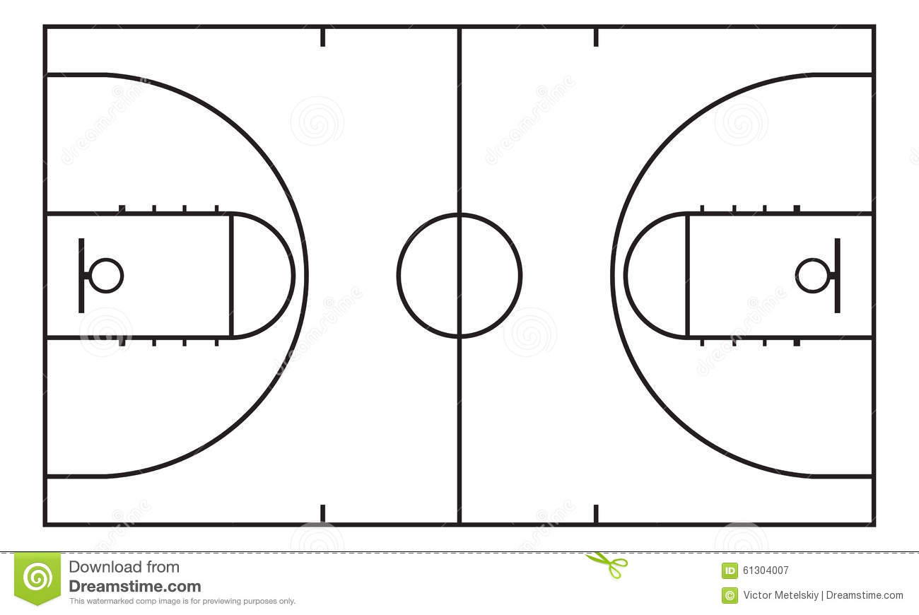 Basketball Court Background For Sport Strategy