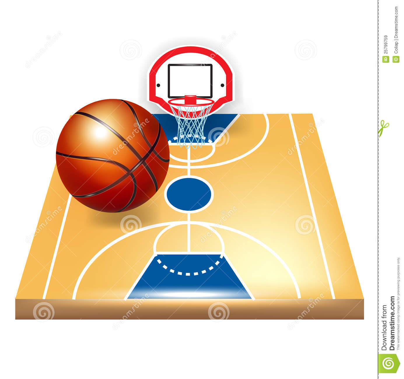 Basketball court and ball royalty free stock images for Free inside basketball courts