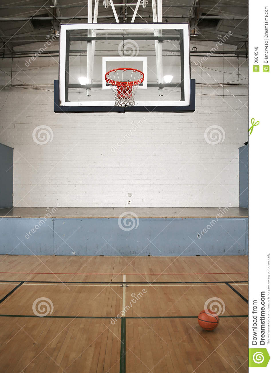 Basketball Court Amp Ball Stock Photo Image 3684540
