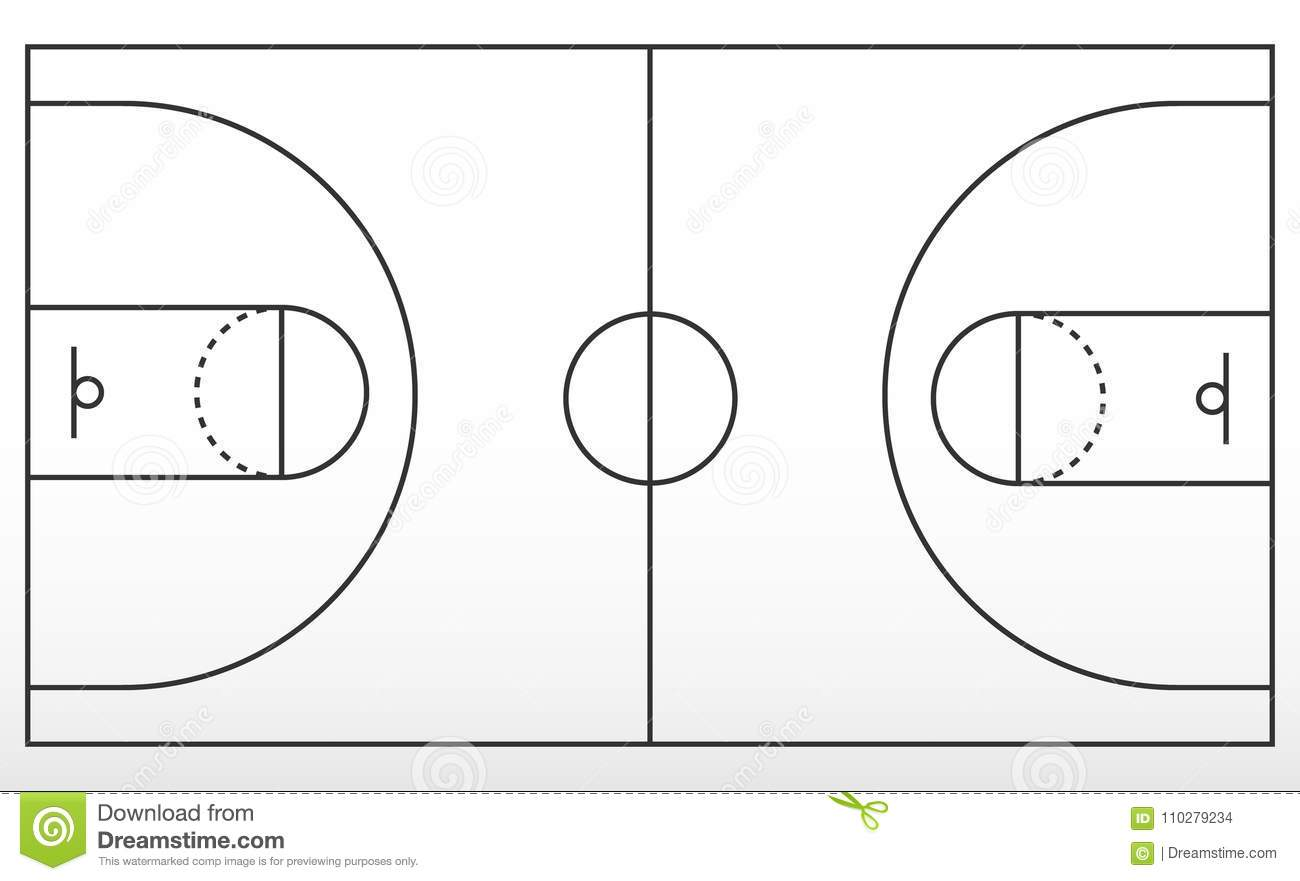 Basketball Key Template Himalayan