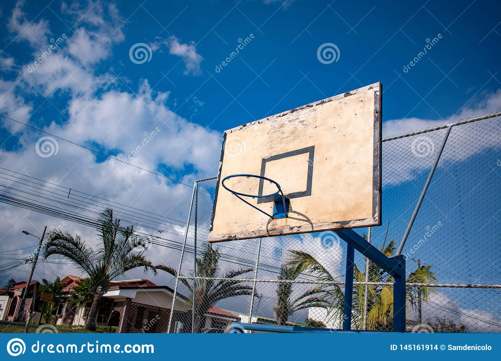 Basketball court for play with