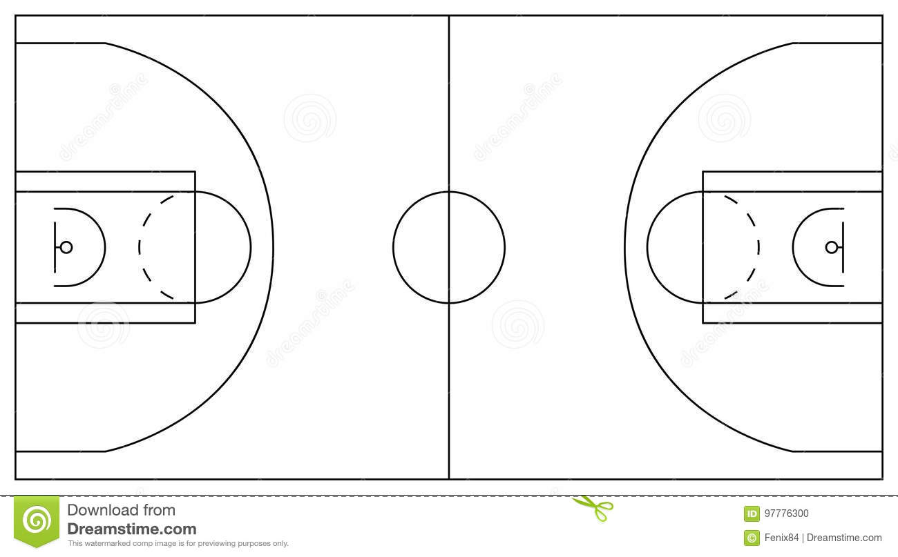 Superior court marking system at printable blank venn for How wide is a basketball court