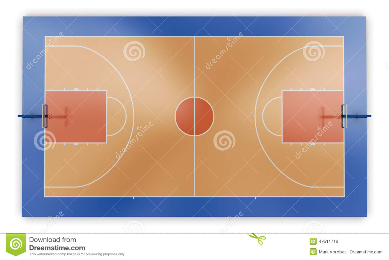 Basketball Court Top View Stock Illustration Image Of
