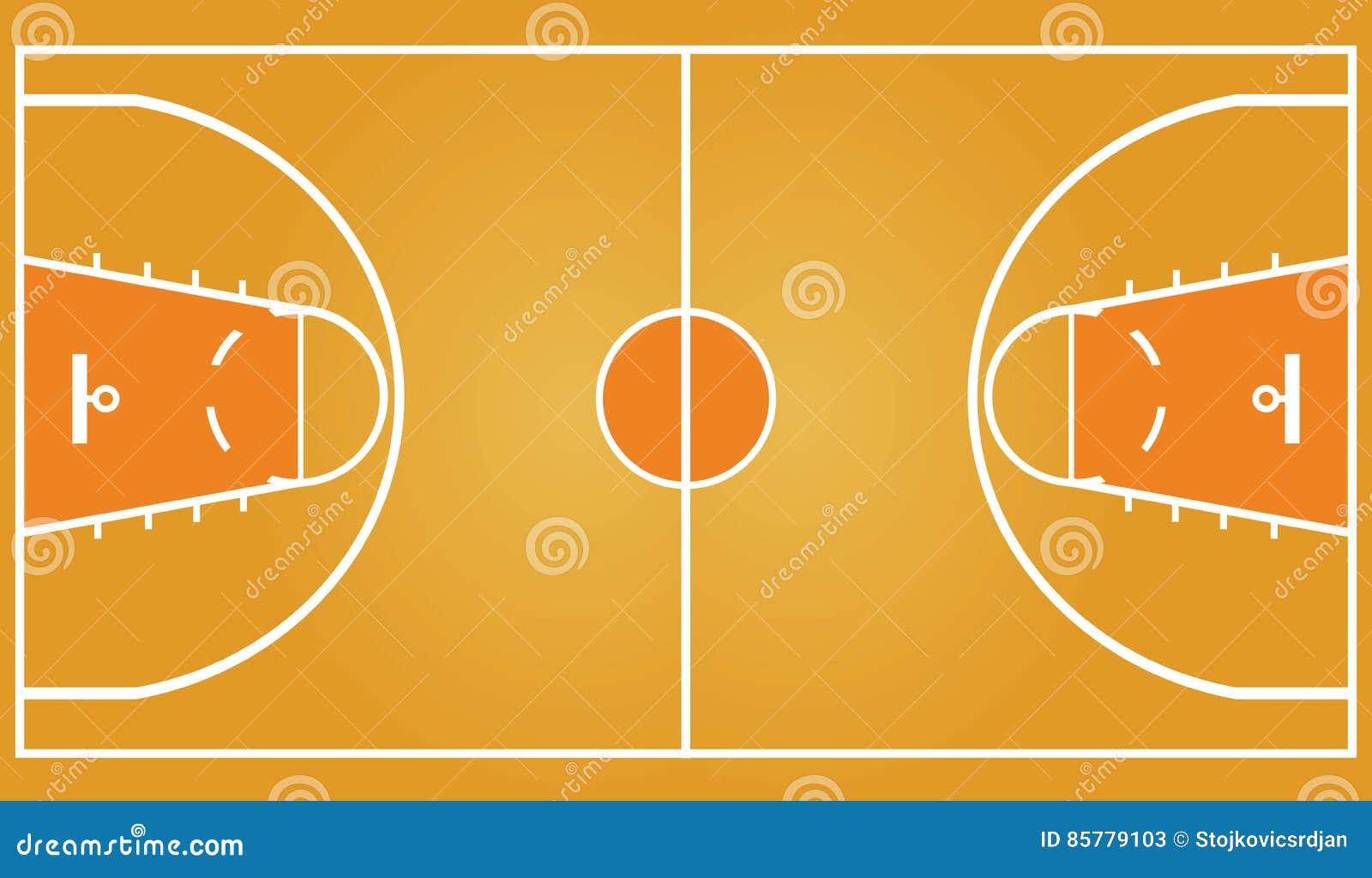 basketball court stock vector illustration of play baseline 85779103