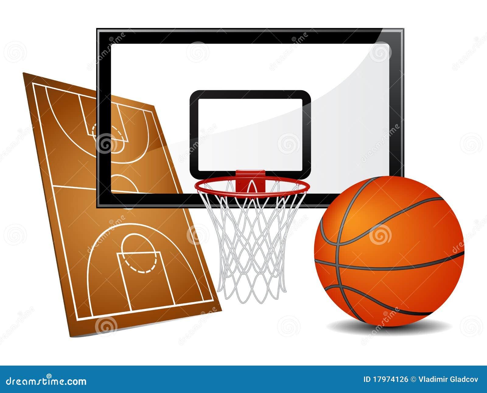Basketball design elements royalty free stock image - Canasta de baloncesto ...