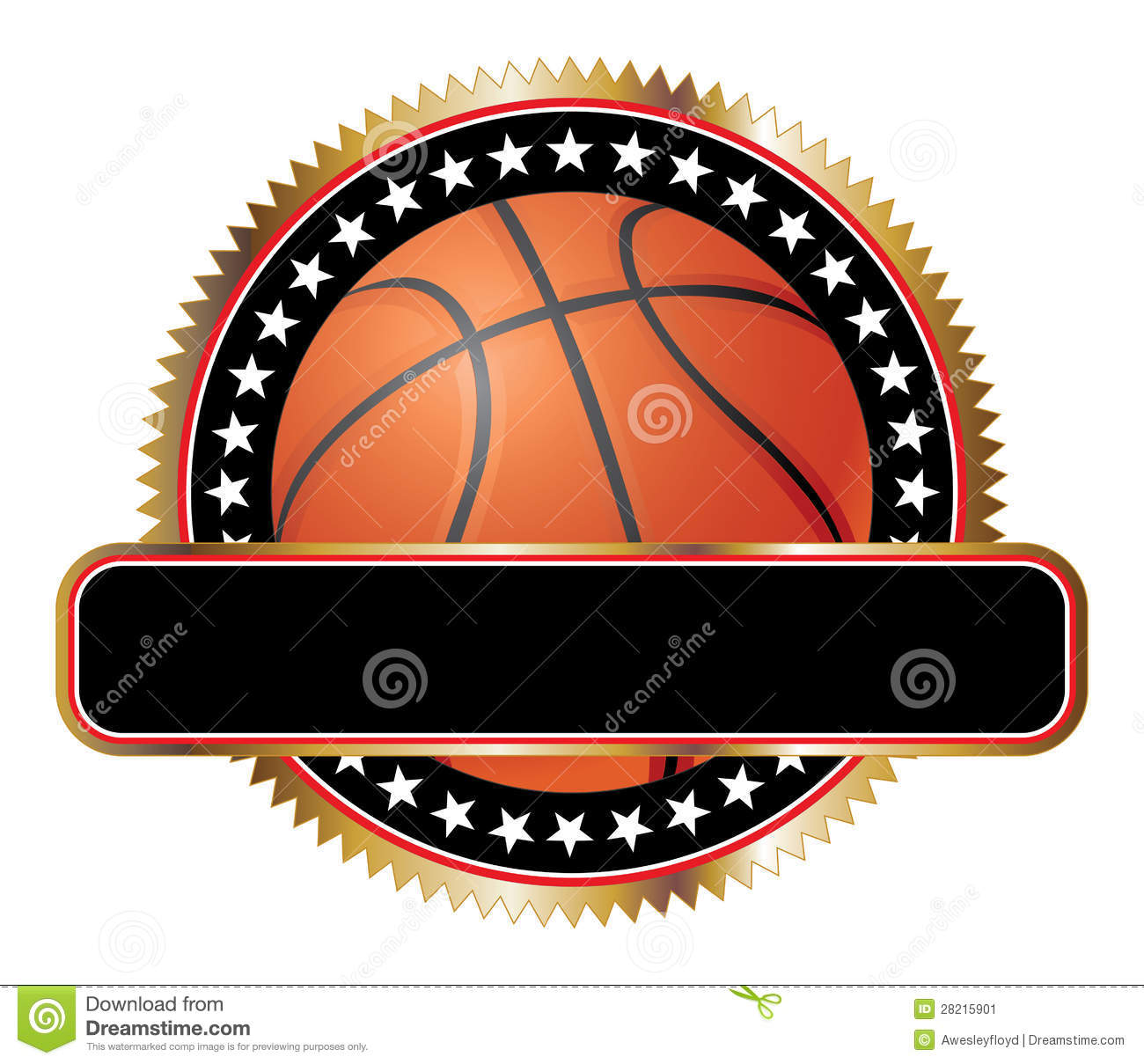 basketball design emblem stars stock vector illustration of