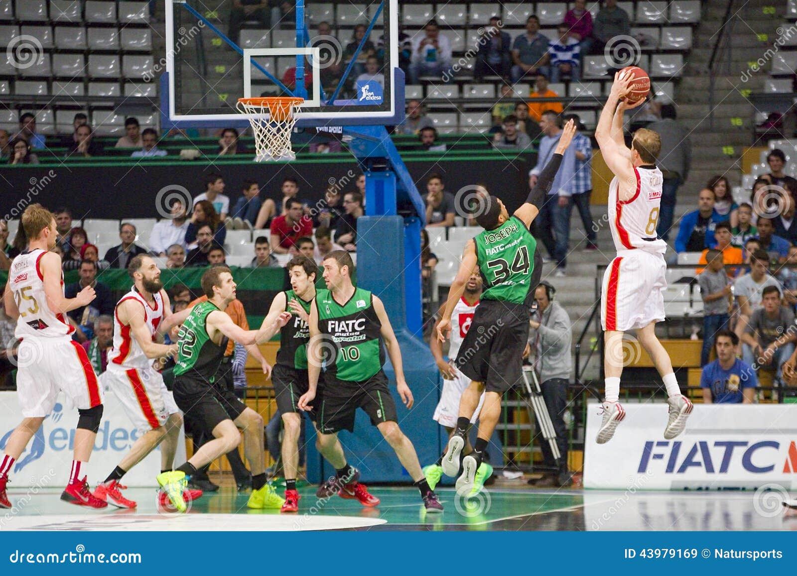 Basketball drei Punkte Schuss