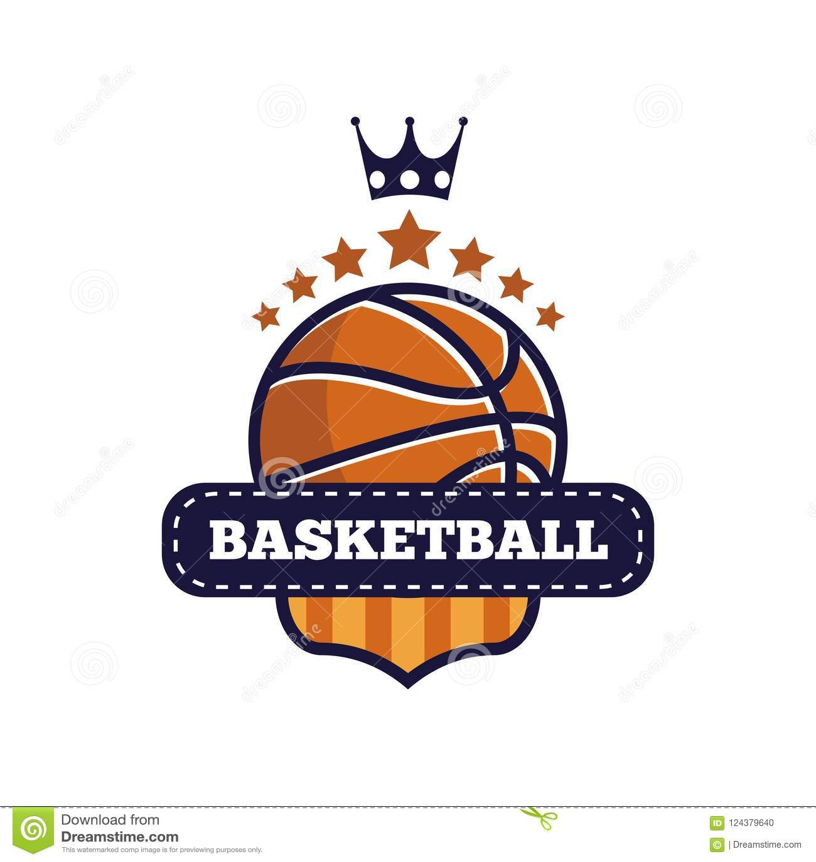 Basketball esport logo