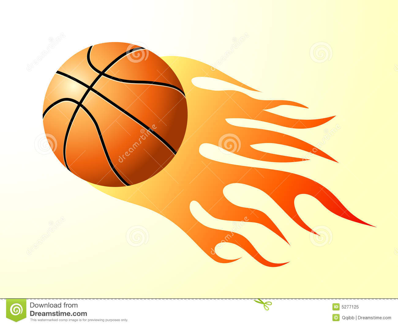 Basketball Flames Clip Art Basketball with flame
