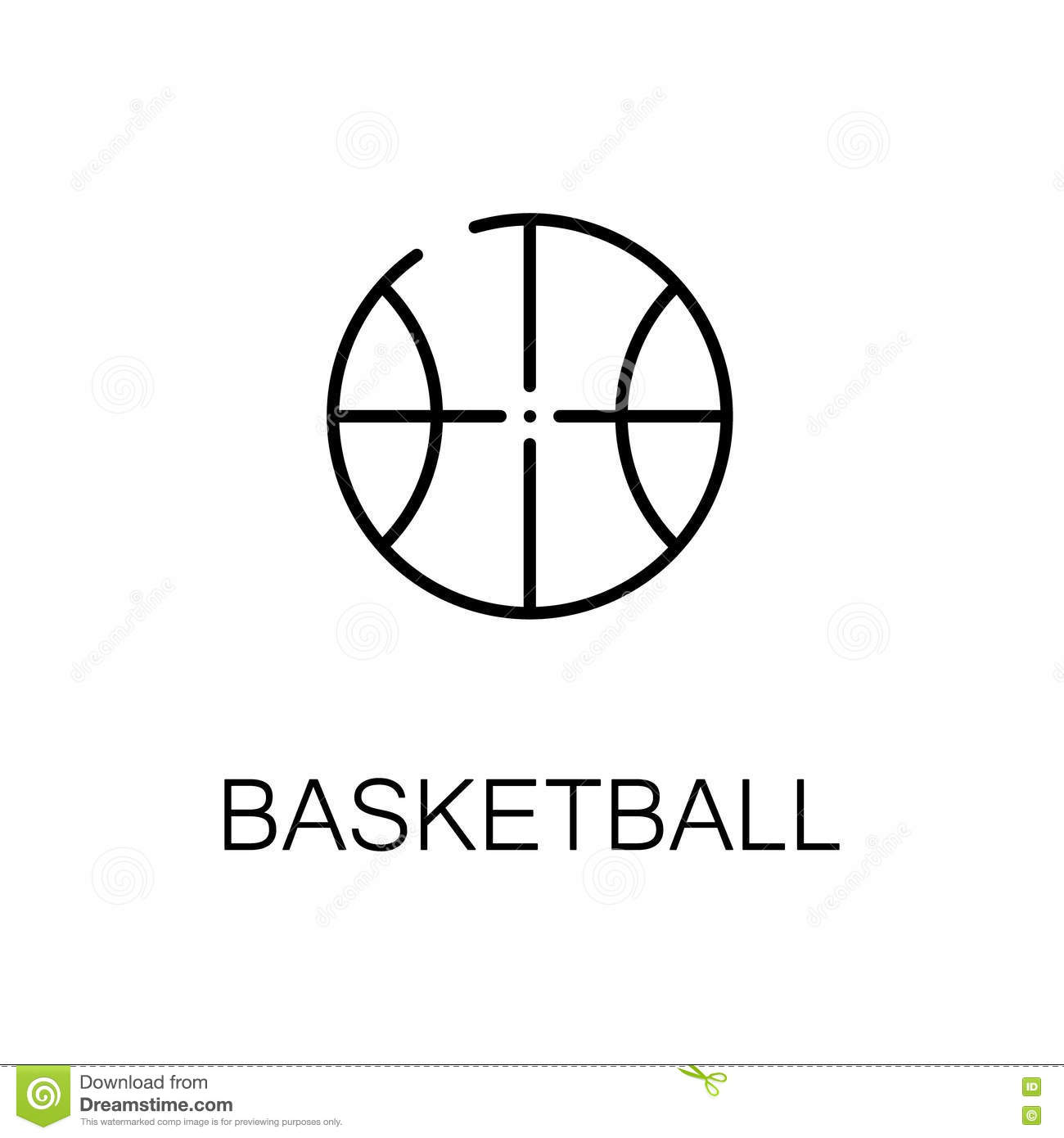 Basketball flat icon or logo for web design stock vector basketball flat icon or logo for web design biocorpaavc Choice Image