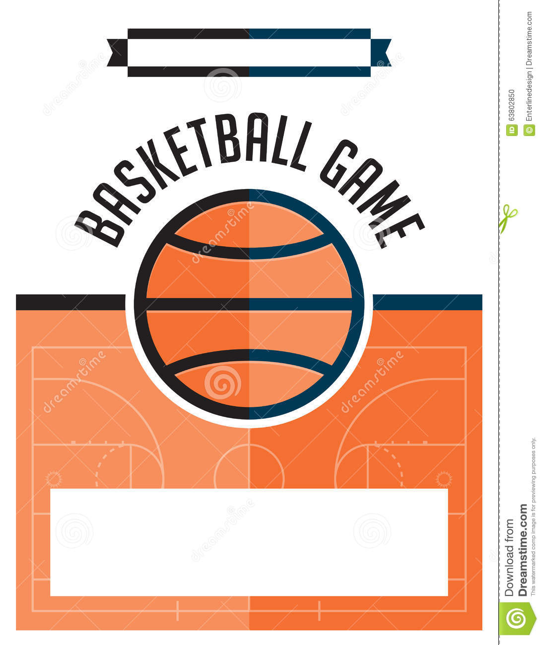 basketball game flyer illustration royalty free vector