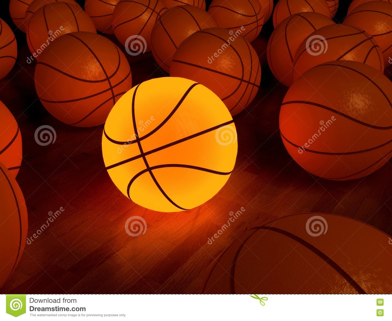 Basketball Glow Ball Royalty Free Stock Photos Image