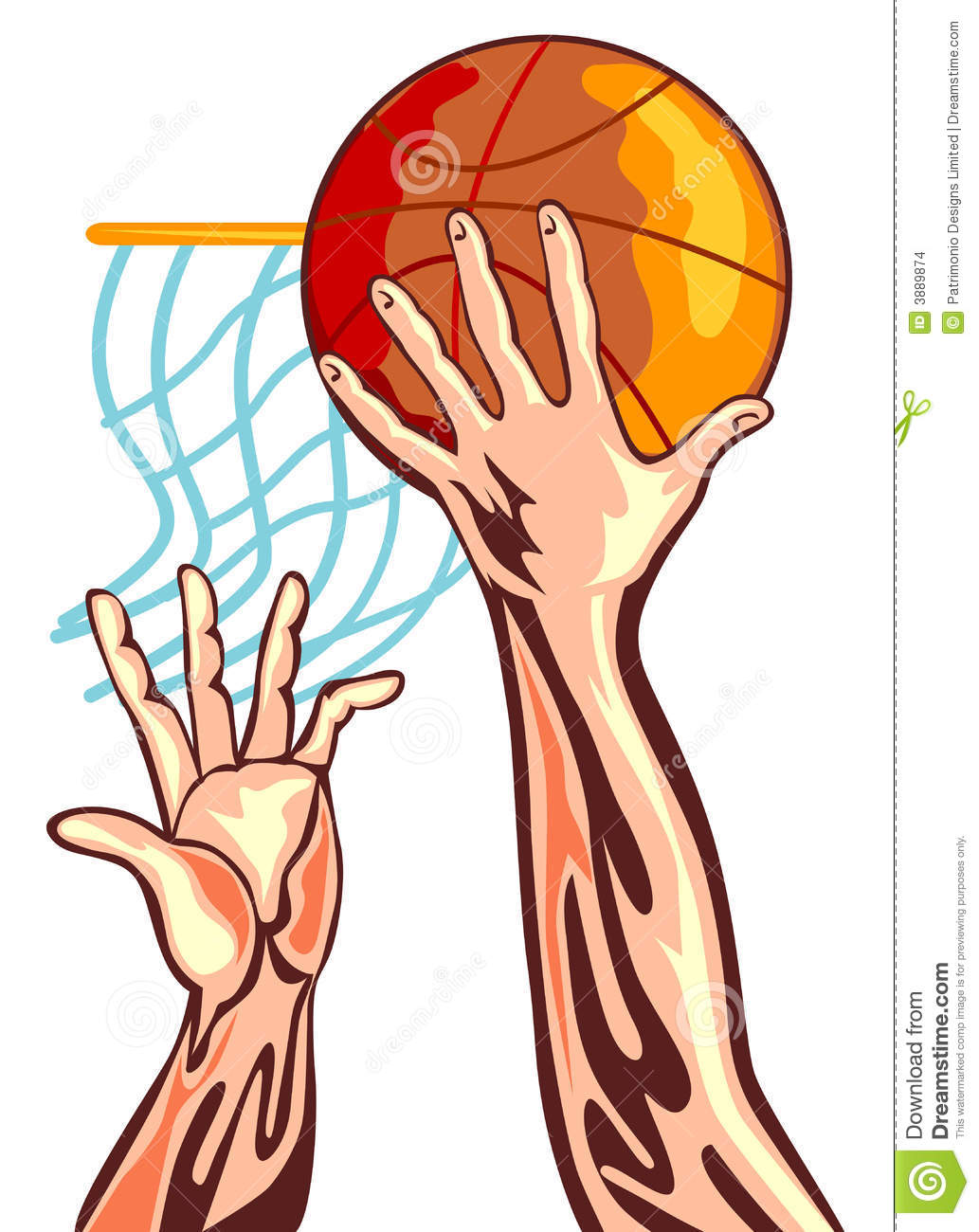 Basketball Hand With Ball Stock Images - Image: 3889874