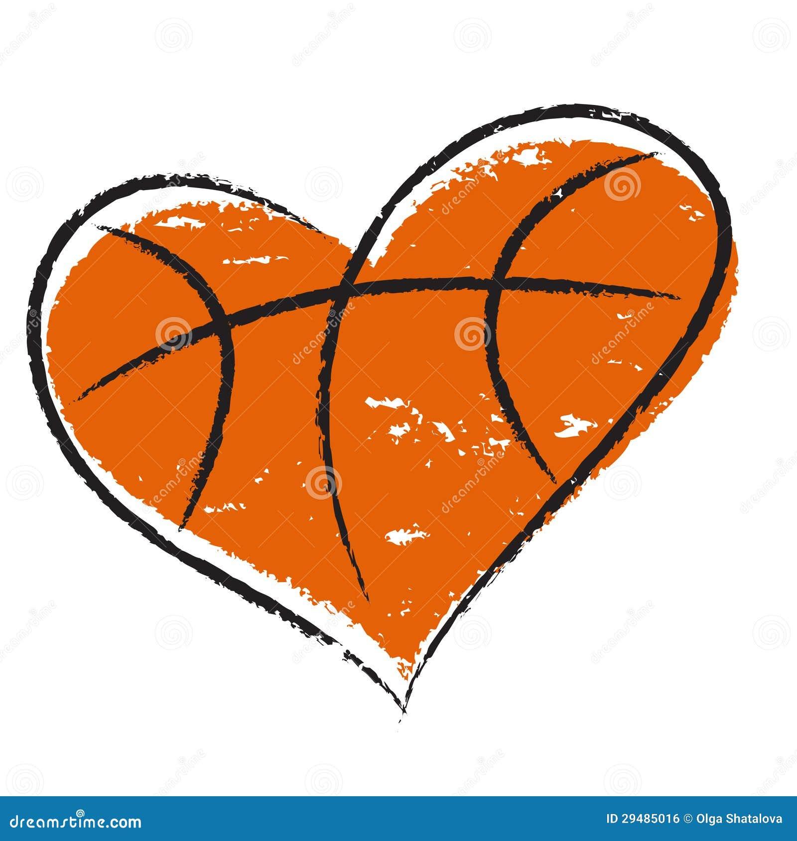 Basketball Heart Stock Vector Illustration Of Isolated 29485016