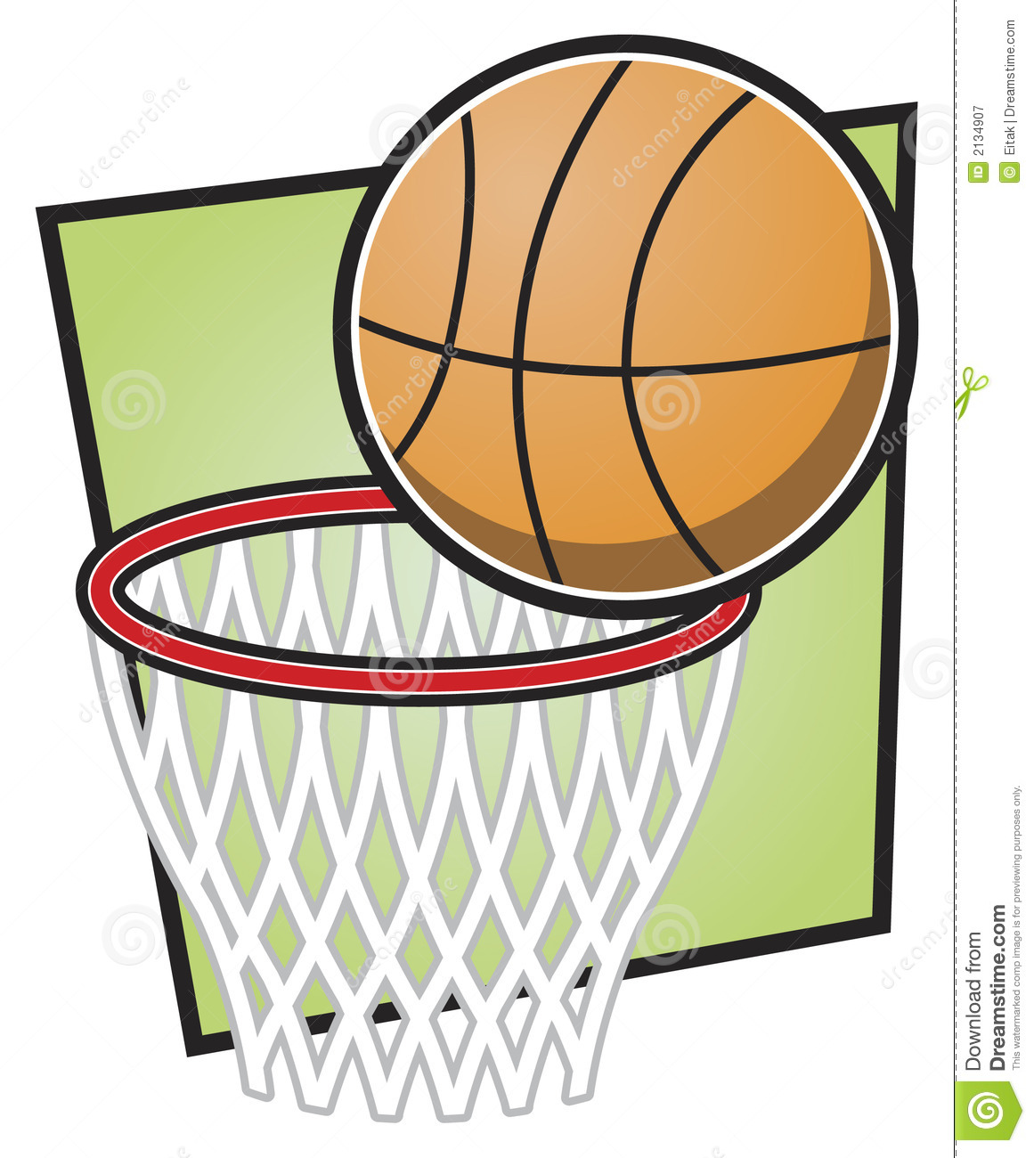 Basketball And Hoop Stock Vector Illustration Of Bounce 2134907