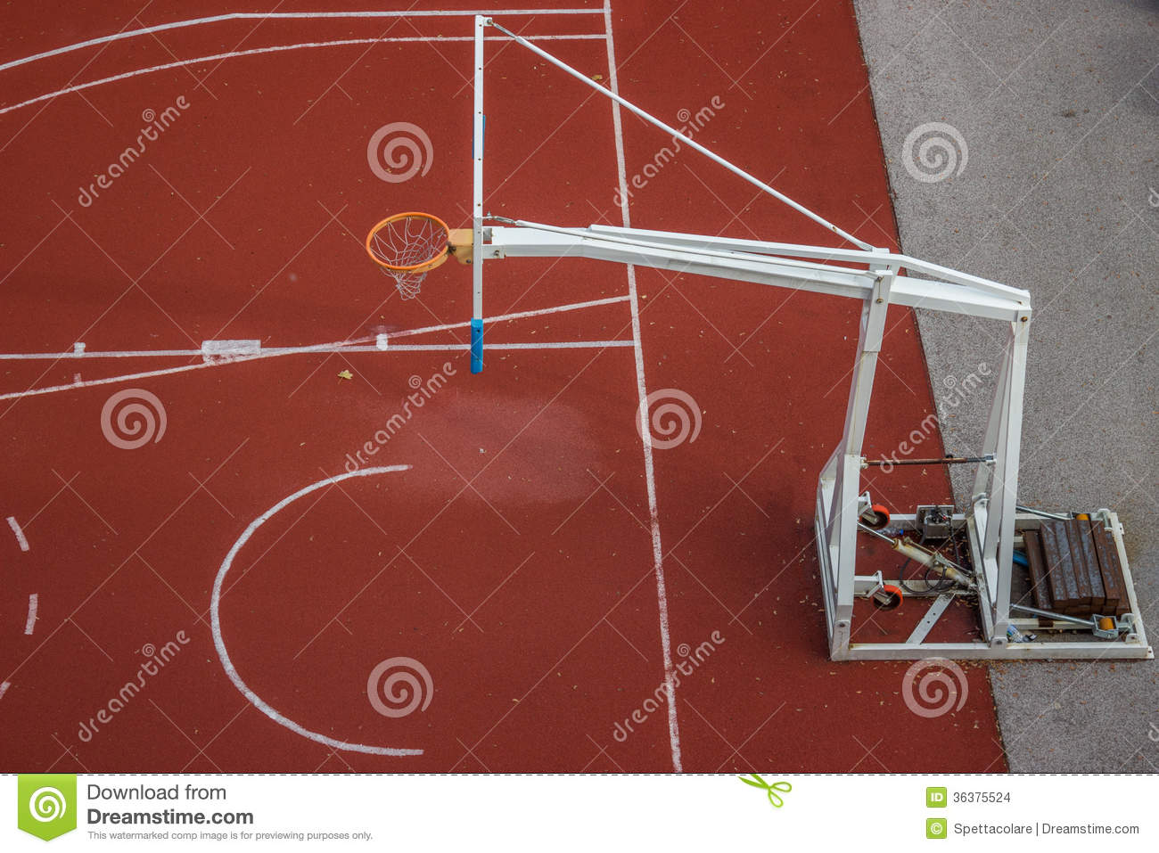 Basketball Hoop Construction 2 Stock Images Image 36375524