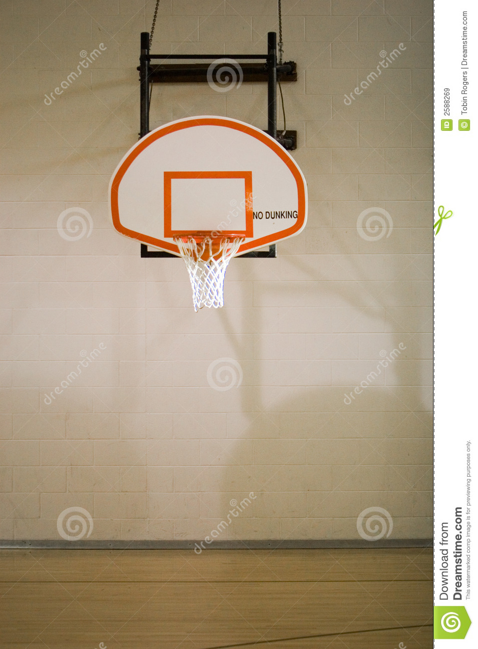 Basketball hoop and court stock image image of hoop for Sport court basketball hoop