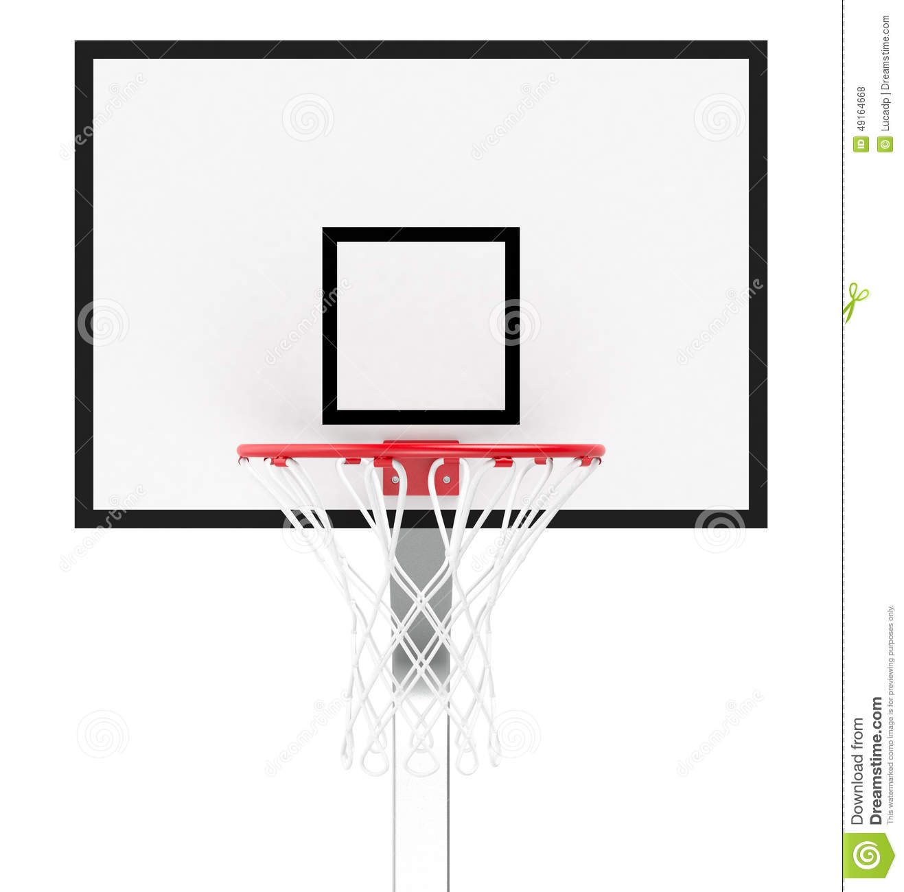 basketball hoop stock illustration illustration of metal