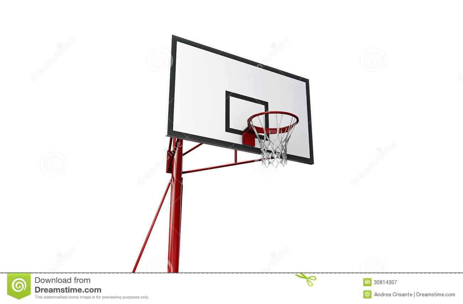 Basketball Hoop Stock Illustration Of Floor 30814307 Diagram
