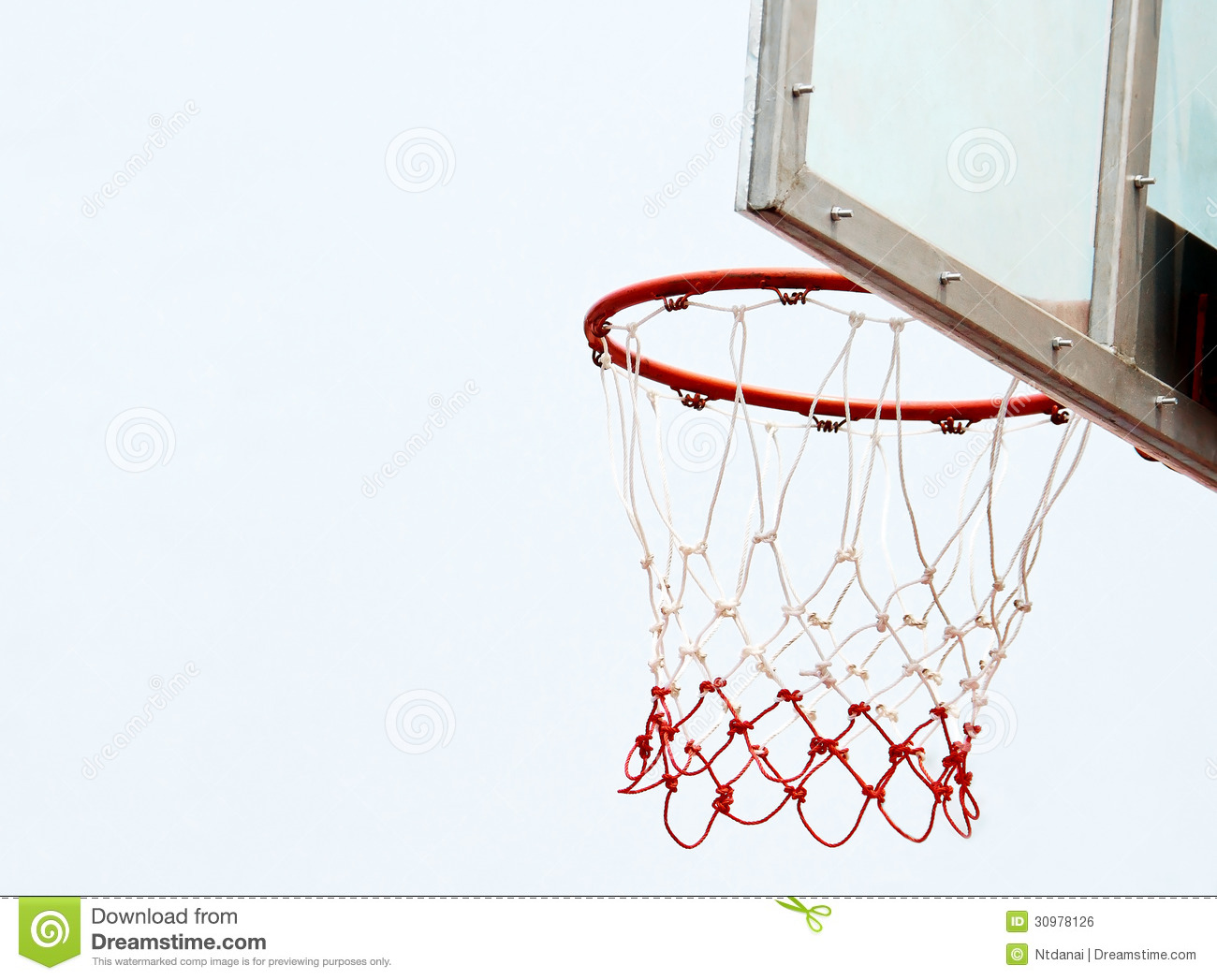 Basketball Hoop And Net Royalty Free Stock Image - Image: 30978126