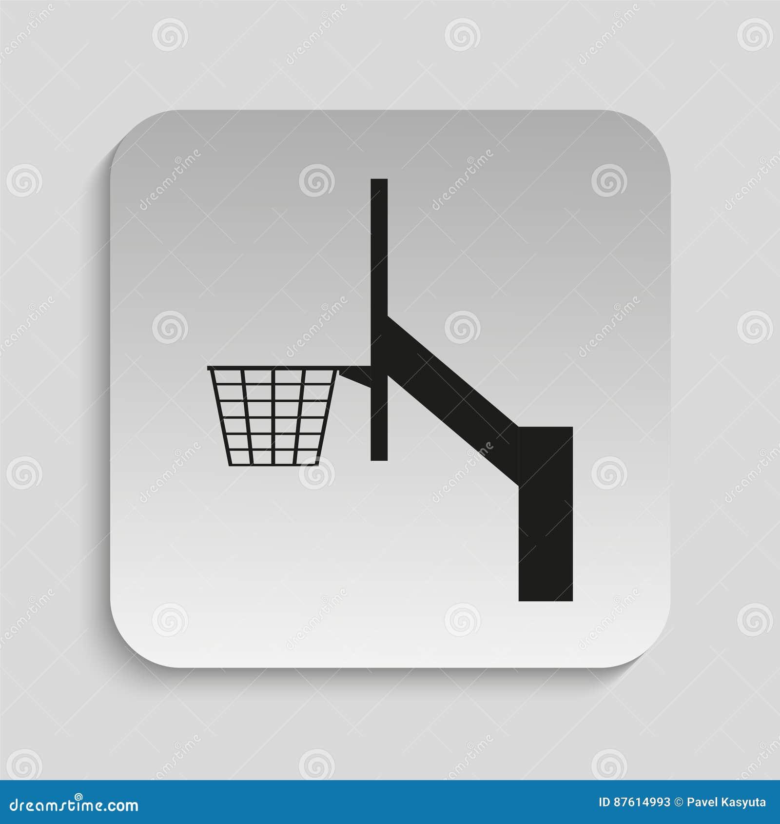 Basketball Hoop Vector Icon Stock Illustration Of Diagram
