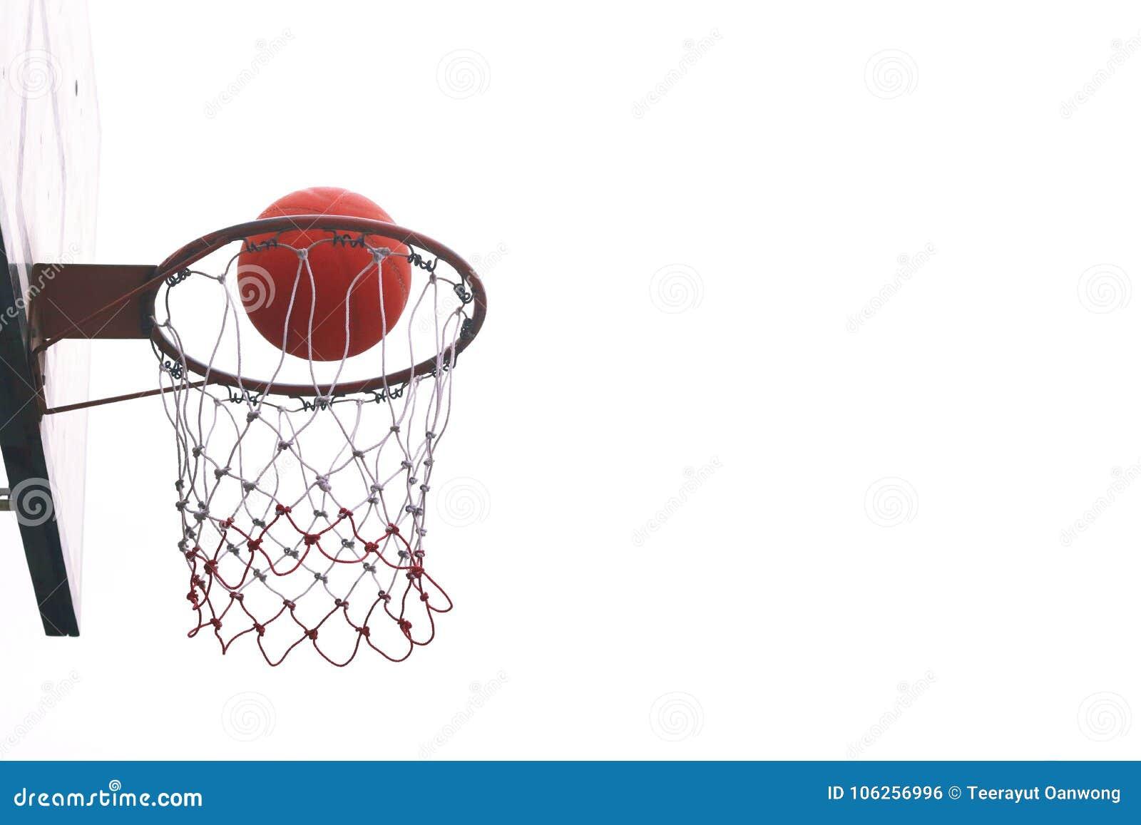 Basketball hoops.