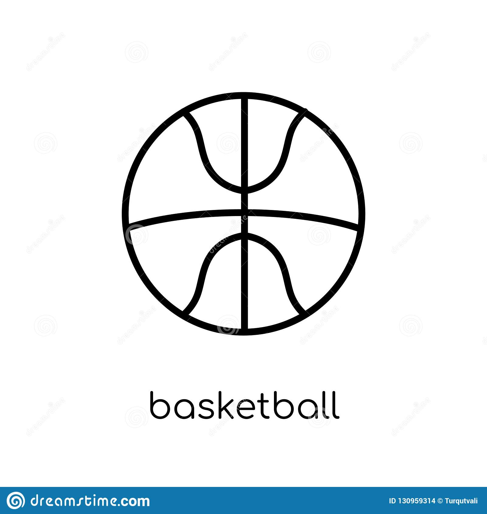 Basketball icon. Trendy modern flat linear vector Basketball icon on white background from thin line sport collection