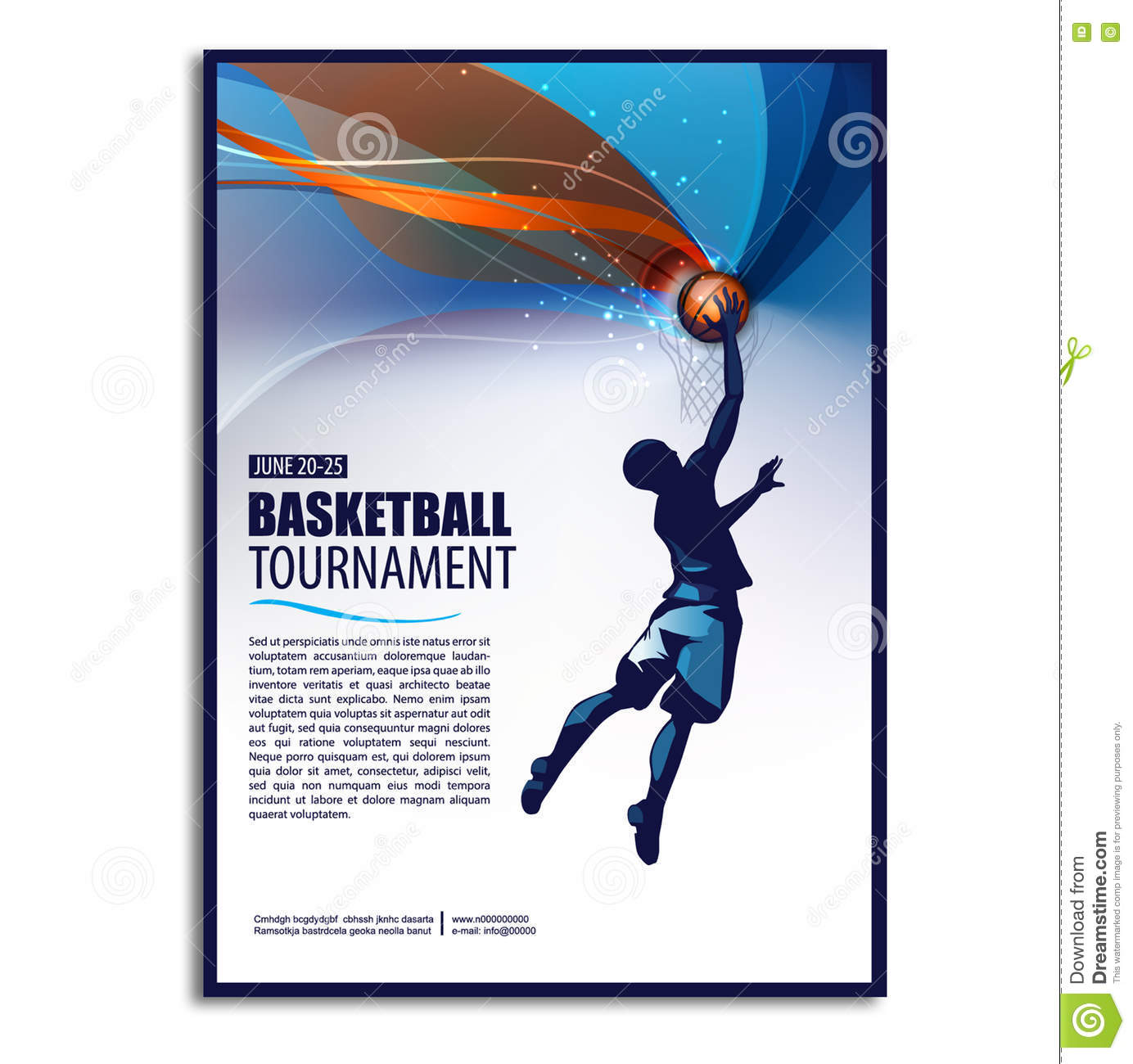 basketball sports poster templates
