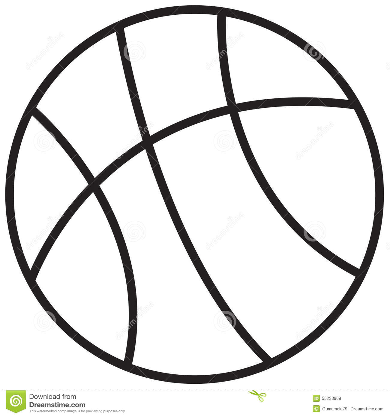 Line Drawing Pictures : Basketball stock illustration of draw